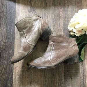 Seychelles | Brown Silver Metallic Booties